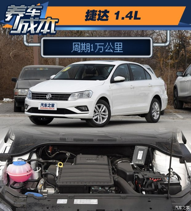 周期1万公里 2017款捷达1.4L养车成本