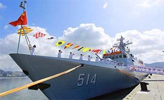 中国海军最新一艘054A入役