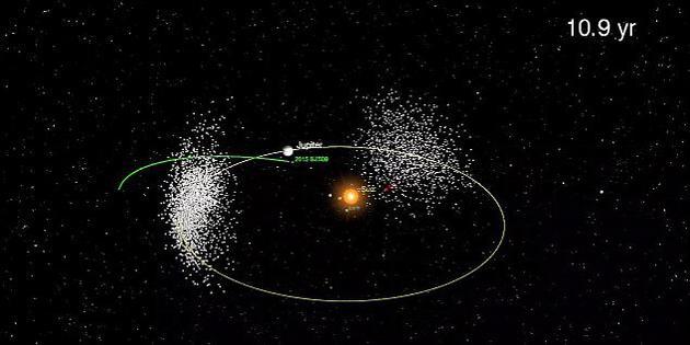 捣蛋小行星穿越木星轨道绕太阳逆行