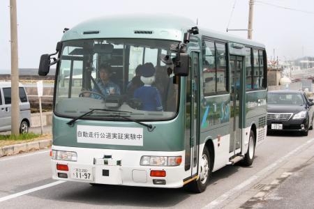 软银旗下公司等在冲绳实施巴士自动驾驶试验