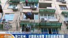 浙江杭州:雨水频繁 晾晒成难题