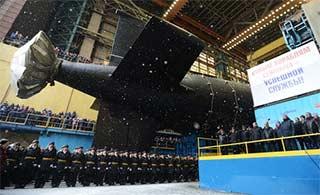 俄海军第二艘亚森级核潜艇下水