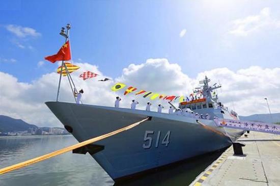 简氏关注中国军舰下饺子:3天内2艘下水1艘入役