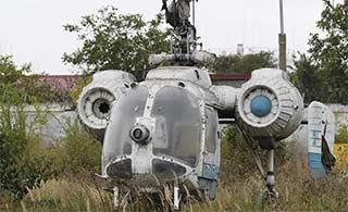 这款报废直升机外形很独特