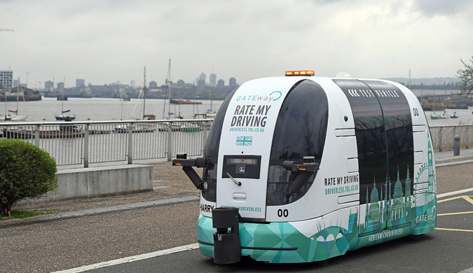 百名英国公众参与无人班车测试 无方向盘和刹车