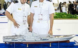 辽宁舰模型亮相巴西防务展