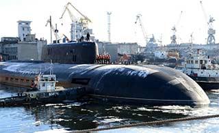 俄核潜艇完成整修返回基地