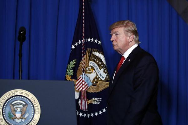 """特朗普就美军对叙利亚射弹发表讲话  称""""关系国家安全"""""""