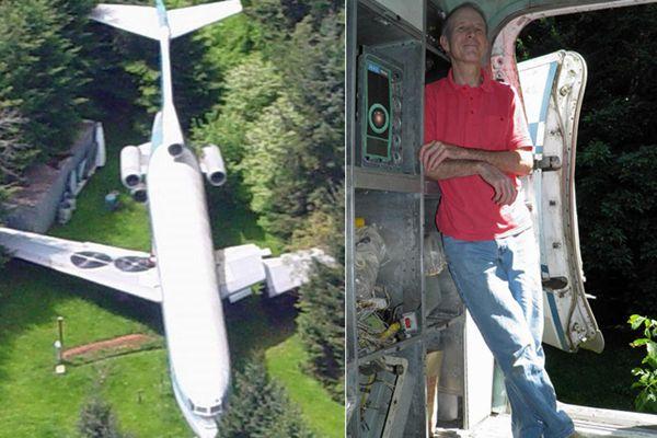 拉风!男子买下波音727客机改成住房 每年一半时间住里面