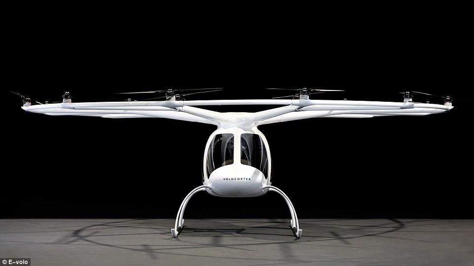 德国团队研发电动直升机 有18个旋翼