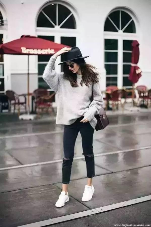 九分裤+短靴-昕穿搭 春天时髦爆表的九分裤,千万别让一双鞋毁了