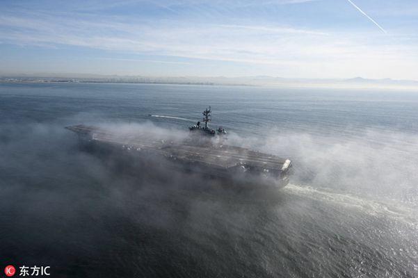 美军卡尔-文森号航母战斗群前往朝鲜半岛