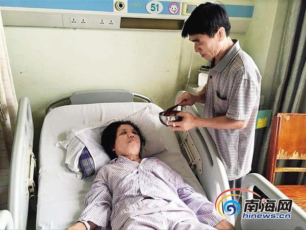 定安女子刚生下宝宝查出患脑瘤 急需3万元手术