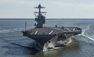世界最强航母首次自主动力航行