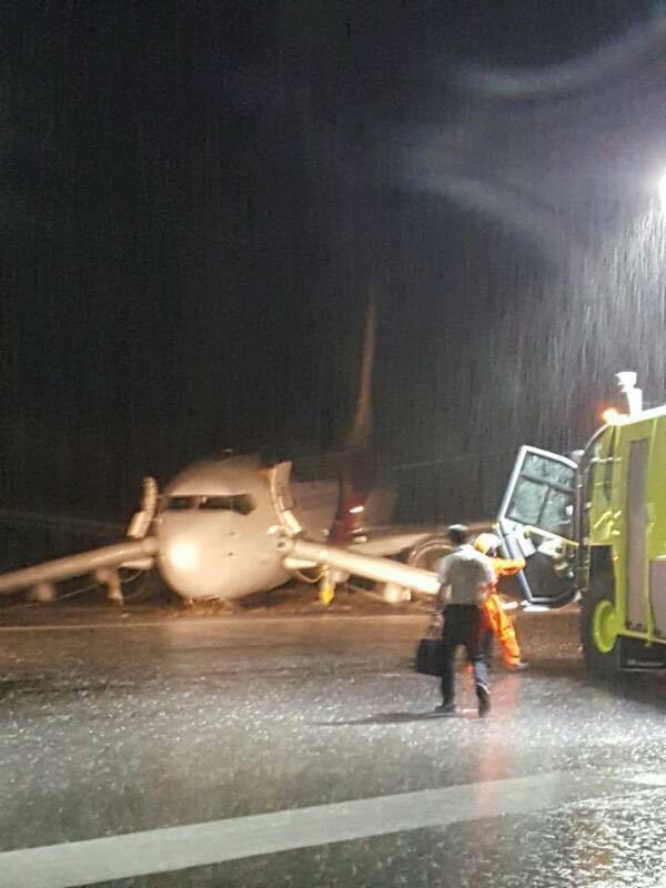 马航又出事 飞机降落时疑似撞击跑道