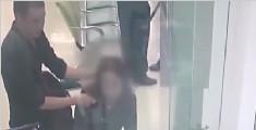 惊险!男子持刀抢银行 银行员工挺身而出换人质