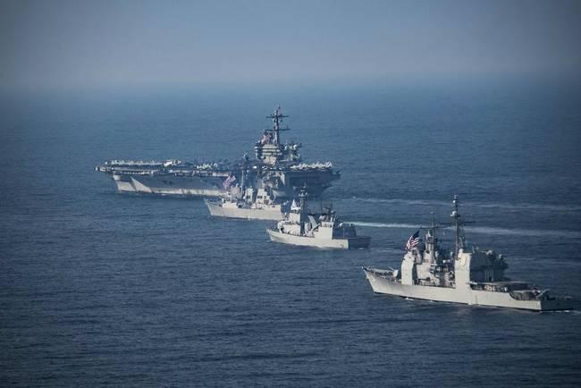 美军双航母拟月底到位半岛 核试验或成朝鲜禁区