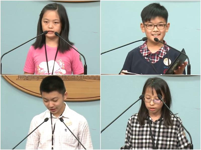 蔡英文办公室邀小朋友扮演发言人 正牌发言人担心被抢饭碗