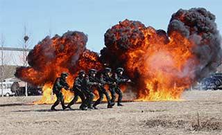 猎鹰突击队日常训练让人热血沸腾
