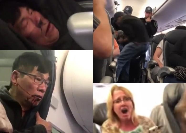 美联航超额订票暴力赶客 华裔乘客被强行拖走