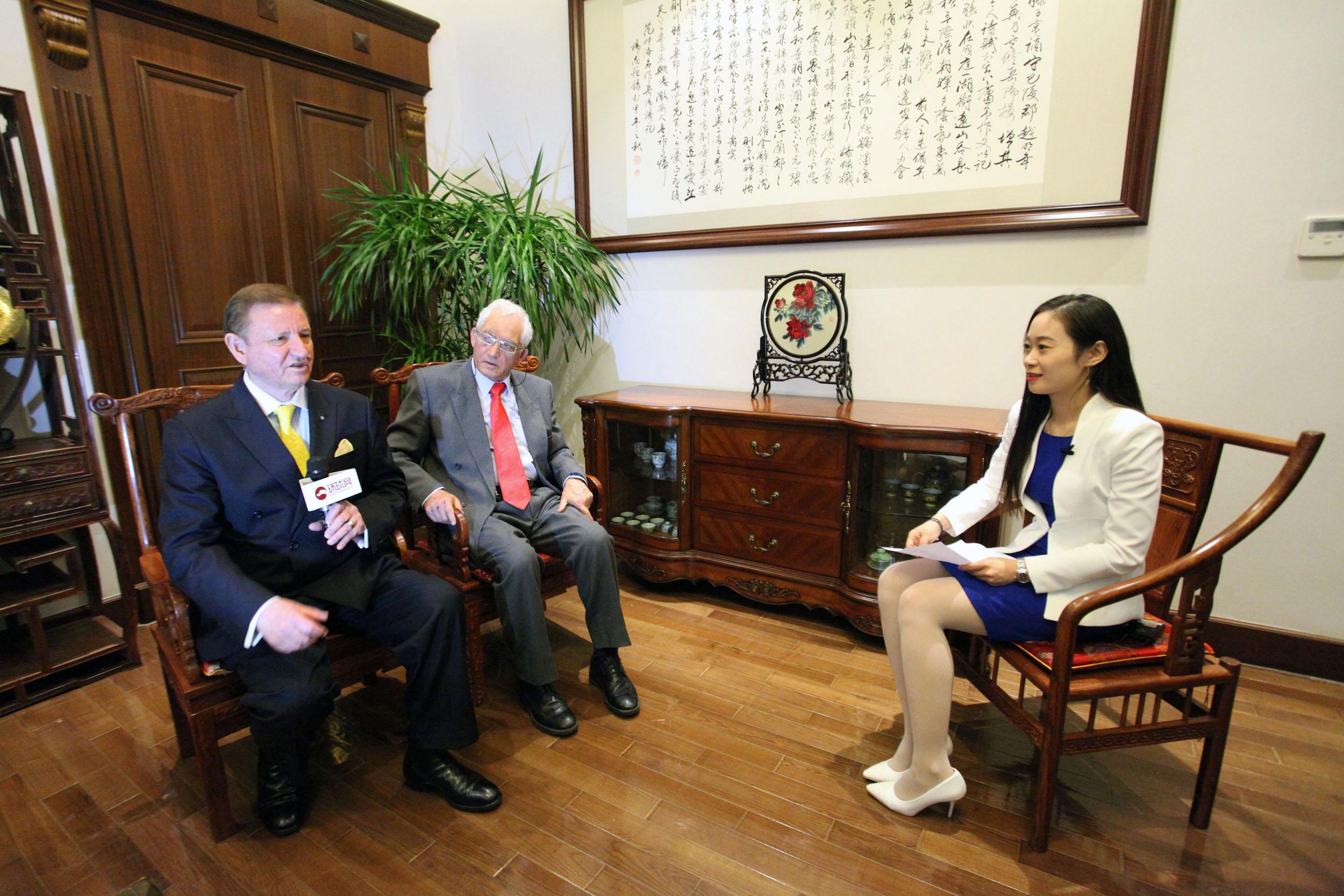 马耳他中国友好协会会长和驻华大使接受环球网专访