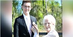 美国高中生邀93岁奶奶当毕业舞会舞伴