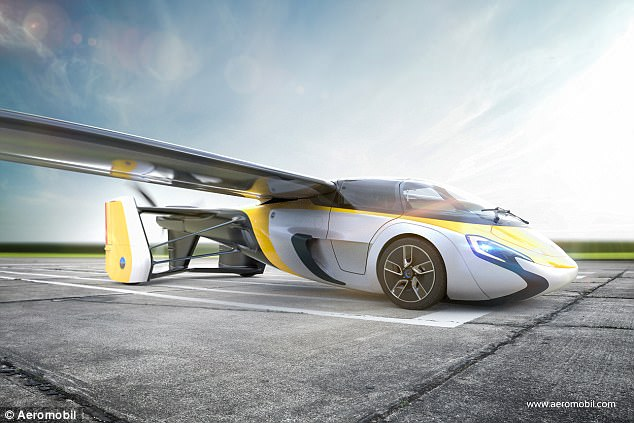 AeroMobil公司曝飞行汽车概念图 今年就可订购
