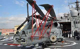 舰载直升机折叠机构是这样的