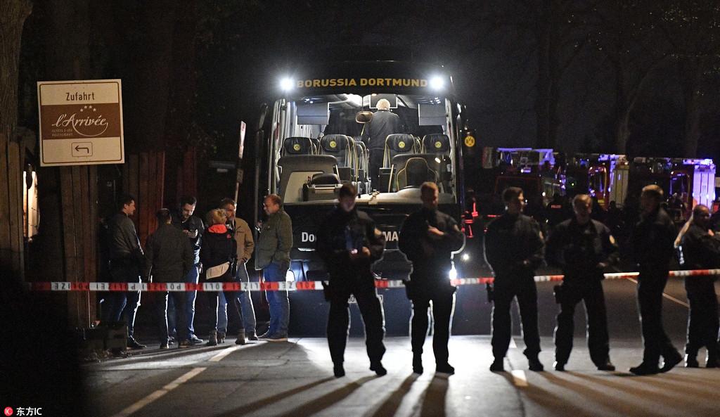 多特大巴遭遇爆炸袭击 欧冠比赛延期