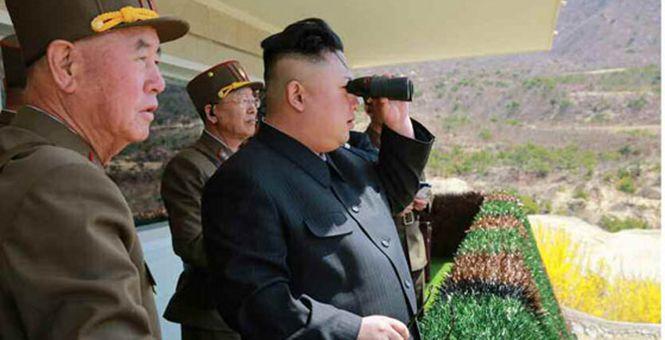 金正恩指导朝鲜特种部队演练 称赞:子弹好像有眼似的!