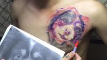 每日一笑:分手后女友头像纹身改成狗