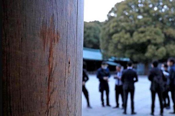 神宫被泼不明液体 日警方向两中国女子发逮捕令