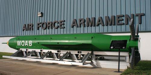 美军在阿富汗投炸弹之母 系威力最大非核炸弹