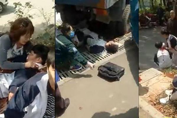 湖南一拖拉机失控冲向学生队伍 致1死12伤