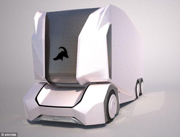 瑞典设计出无人驾驶卡车 满电可行驶约200公里