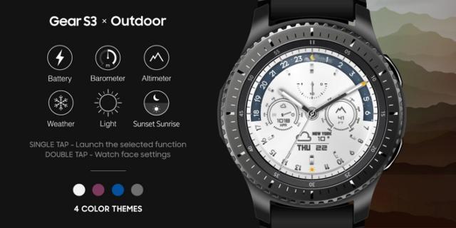 三星为Gear S3智能手表发布三款全新表面