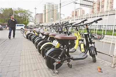 共享电动单车带牌后现身北京街头 此前曾被叫停