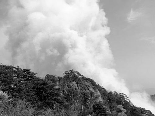 千山风景区发生火情