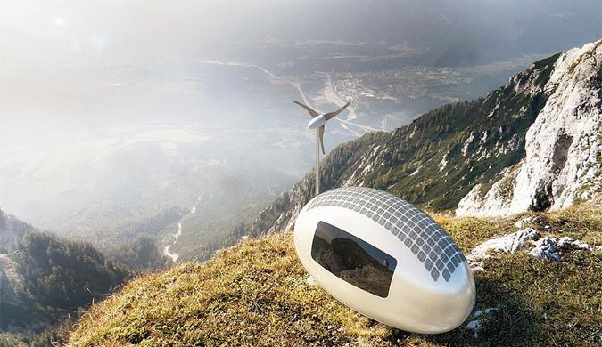斯洛伐克团队设计太阳能流动胶囊屋