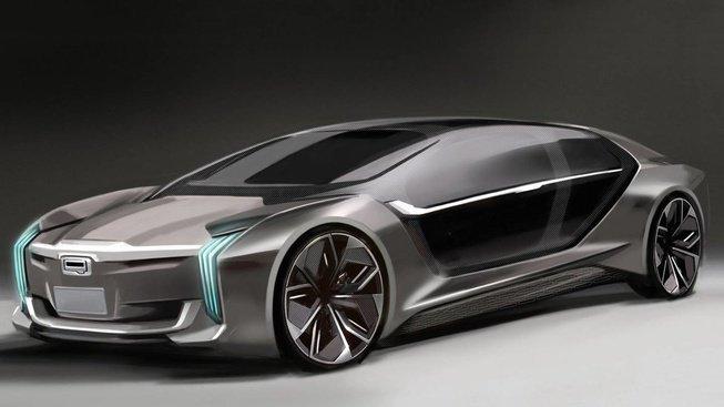 观致K-EV概念车预告图发布 将亮相上海车展