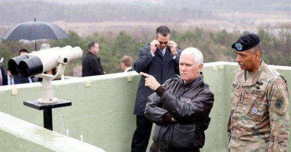 美国副总统到访三八线 重申对朝战略容忍已结束