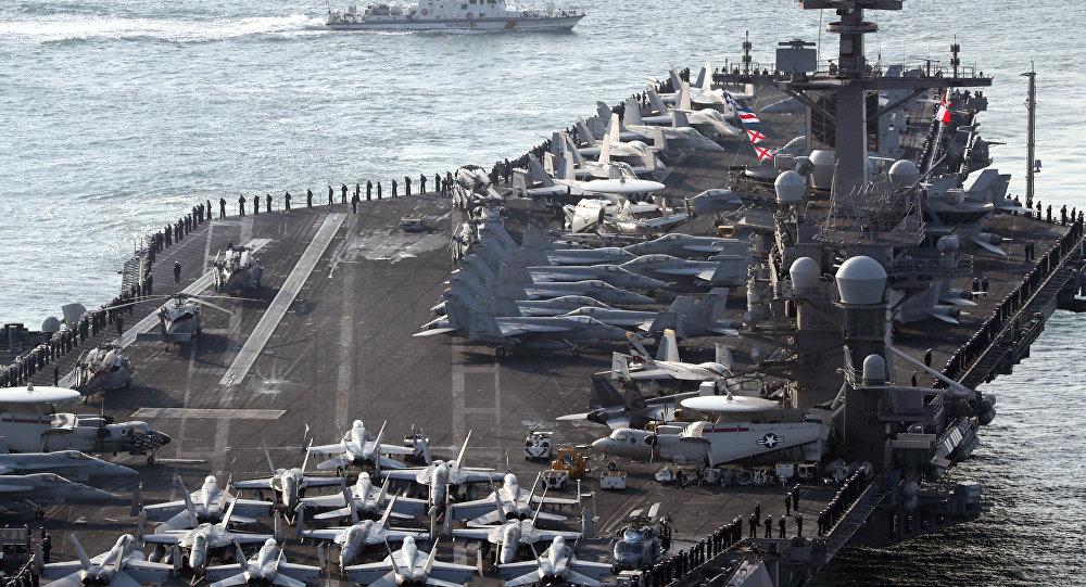 俄媒:日官员称中俄曾跟踪美军卡尔文森号航母