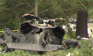 美黑鹰直升机坠毁1死2伤