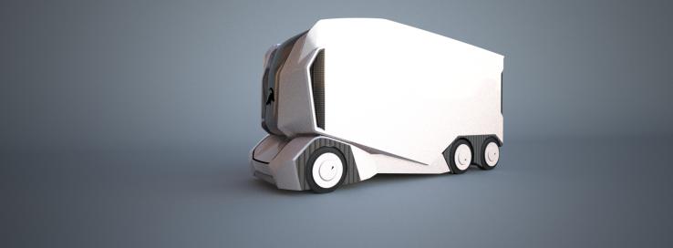 未来长途货运自动驾驶卡车长啥样? 没有驾驶室