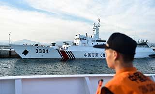 中越海警北部湾海上联合检查