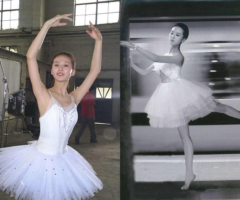 因为从小跳芭蕾舞,又遗传了妈妈的好基因图片