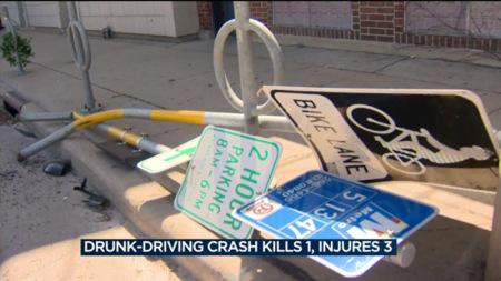 美威州休旅车失控冲上人行道 一中国留学生被撞身亡