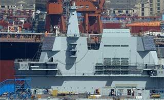 国产航母舰岛涂装完成后首曝光