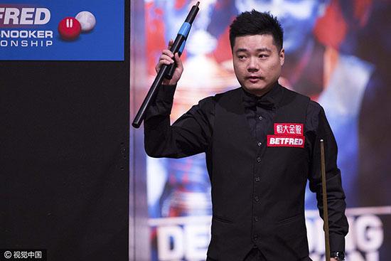 世锦赛丁俊晖10-5周跃龙 次轮再内战对阵梁文博