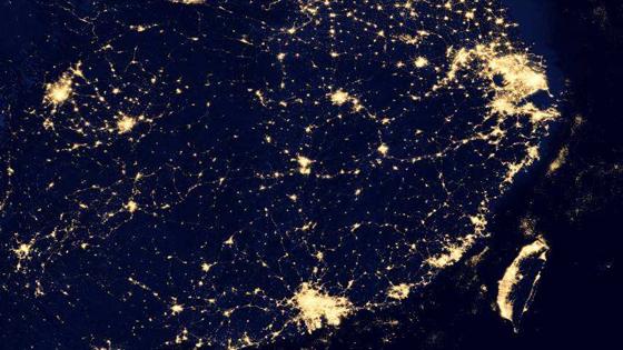 美媒:夜间灯光表明中国经济好于官方数据!